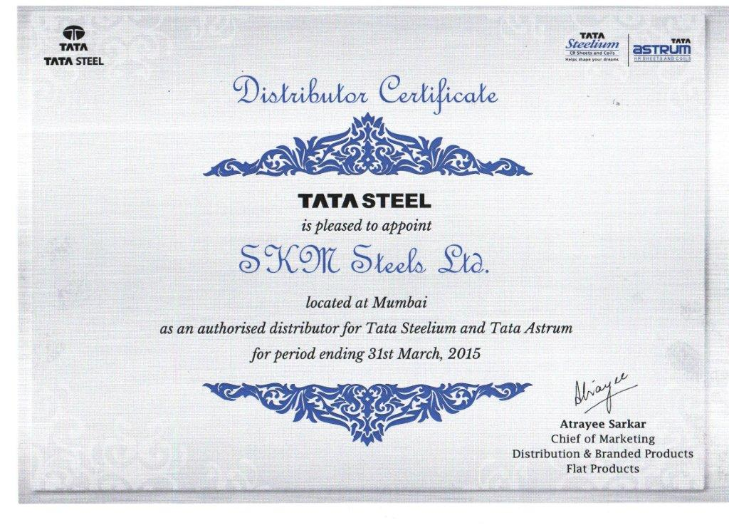 Welcome to skm steels limited cr hr division distributor certificate altavistaventures Choice Image