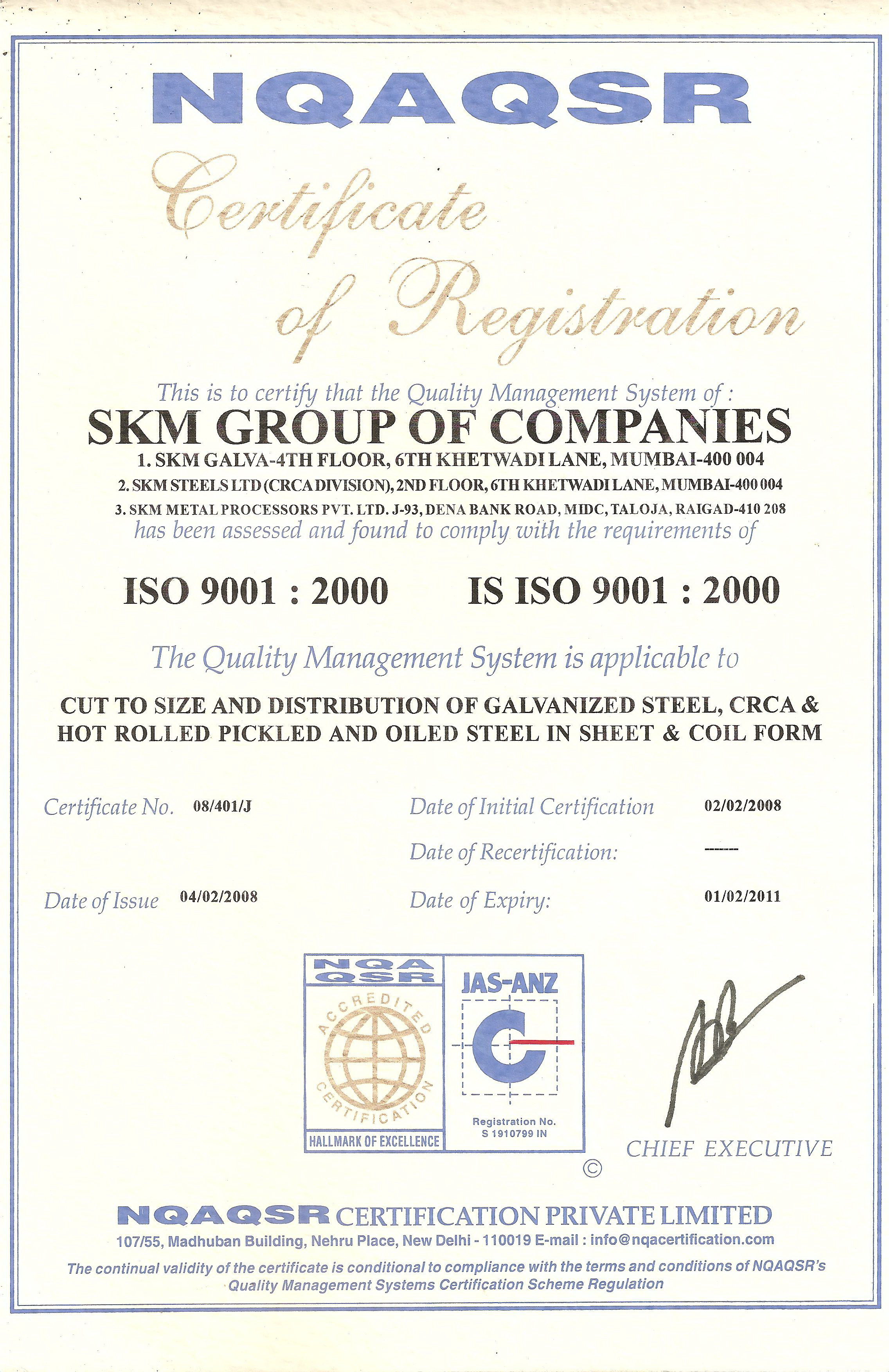 Welcome to skm steels limited iso certificate distributor certificate alcoa altavistaventures Choice Image